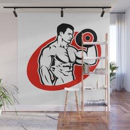 man fitness logo Wall Mural