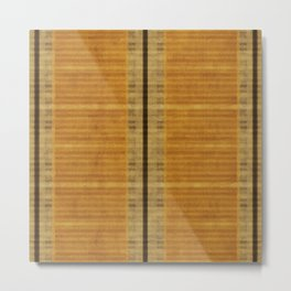 """Simple Oriental Curtains (Orange)"" Metal Print"