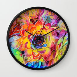 Succulent Madness Wall Clock