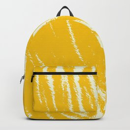 Tiger print Yellow Backpack