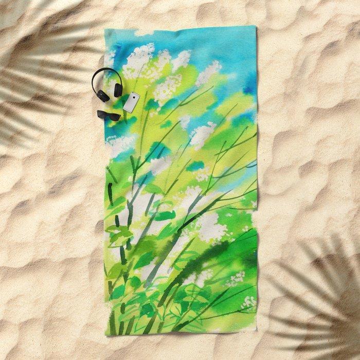 Tree in bloom ❤ Beach Towel