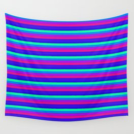 StRipES Pink Teal Blue Wall Tapestry