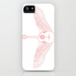 Flying Guitar. iPhone Case
