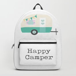 Happy Camper White Backpack