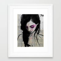 cherry Framed Art Prints featuring cherry by LouiJoverArt