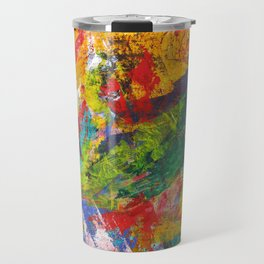 """Sherwood Forest"" Abstract Acrylic Painting by Noora Elkoussy Travel Mug"