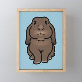 Coco the Minilop Bunny Framed Mini Art Print