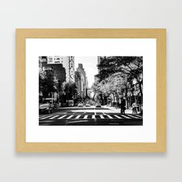 New York City Streets Contrast Framed Art Print