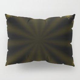 golden stars on dark background Pillow Sham