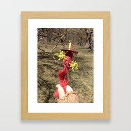 Dogwood and Cerise Framed Art Print