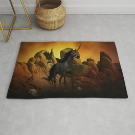 The Dark Unicorn Rug
