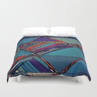 urban Duvet Covers featuring Urban by Julia Tomova