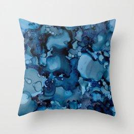 Indigo Abstract Painting   No. 8 Throw Pillow