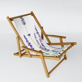lavender watercolor horizontal Sling Chair