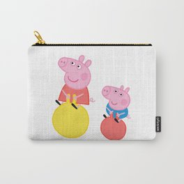 Peppa and George on space hoppers Carry-All Pouch