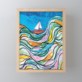 Sailing 2 Framed Mini Art Print