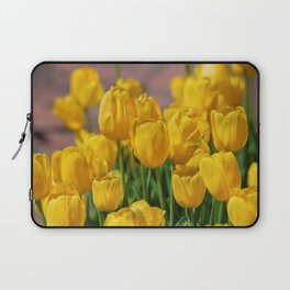 Yellow Tulips Laptop Sleeve