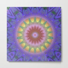 Royal Purple Ethereal Glow Metal Print