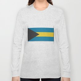 Flag of Bahamas. The slit in the paper with shadows. Long Sleeve T-shirt