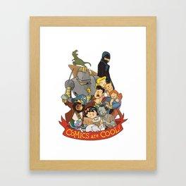 Comics are Cool! Framed Art Print