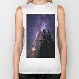 Celestial Starlight in the Forest Near  Lake Irene Colorado by OLena Art - brand Biker Tank