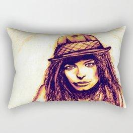 Just a Girl Rectangular Pillow