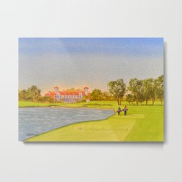 TPC Sawgrass Golf Course 18th Hole And Clubhouse Metal Print