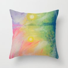 Impressions At Sundown  Throw Pillow