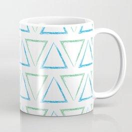 Triangular Peaks Pattern - Teal & Blue #977 Coffee Mug