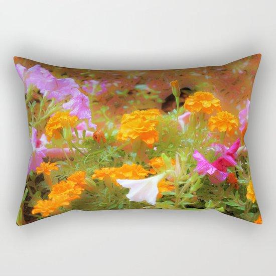 Every little garden seems to whisper a tune Rectangular Pillow