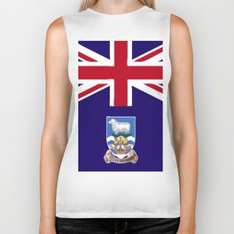 Falkland Islands flag emblem Biker Tank