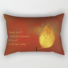 The Lone Leaf Rectangular Pillow