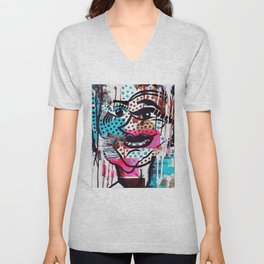 The Dynamic Expressions of Lucy  Unisex V-Neck