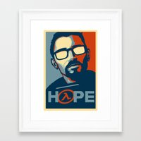 half life Framed Art Prints featuring Half Life Hope by The Strynx