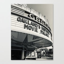 Theater in Black and White Canvas Print