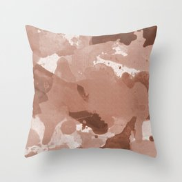 Sherwin Williams Cavern Clay Splatters Watercolor Camo Patchy Digital Art Throw Pillow