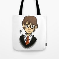 harry Tote Bags featuring HARRY  by Art of Bianca