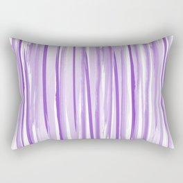 Purple watercolor striped pattern Rectangular Pillow