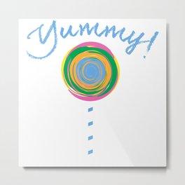 Yummy Loli Blu Metal Print
