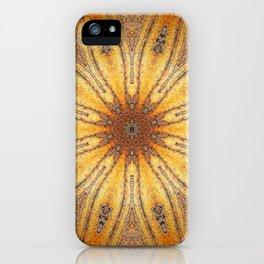 Bright Antique Gold Mandala iPhone Case