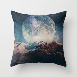 Lake Moon Throw Pillow