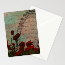 Poppies and Pink Skies Stationery Cards