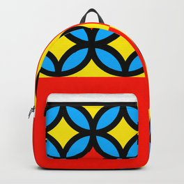 Colored Circles Red Squares Backpack