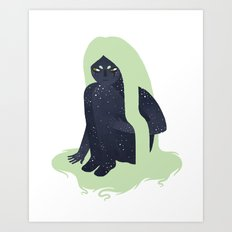 Space Girl 1 Art Print