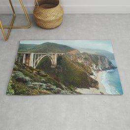 Bixby Bridge | Big Sur California Highway Ocean Coastal Travel Photography Rug