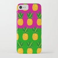pineapples iPhone & iPod Cases featuring Pineapples by The Wallpaper Files