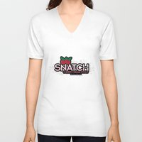 snatch V-neck T-shirts featuring Snatch Double Cherry Cream Stout by Pen Island Brewing Company