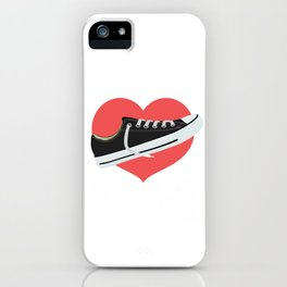 I love to wear trainers iPhone Case