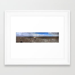 The Cliffs of Israel (Series) Panorama  Framed Art Print