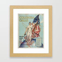 Poster, Columbia Calls, 1916 - 1917, United States, by Frances Adams Halsted, Vincent Aderente, Unit Framed Art Print